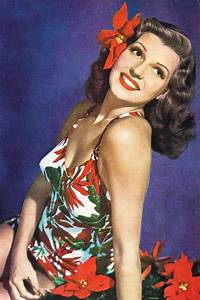 Rita Hayworth with a pointsettia in her hair | Flowers in ...