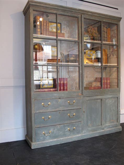 19th Century English Painted Bookcase Bookcases