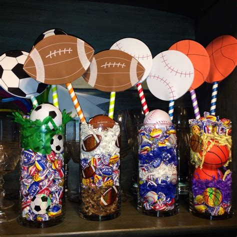 sports centerpieces ideas  pinterest baseball