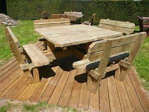 Table Carre Exterieur : table exterieur bois table de jardin et chaises maison boncolac ~ Teatrodelosmanantiales.com Idées de Décoration