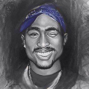 2pac Painting Tupac Shakur Artwork Signed Stretched Canvas ...