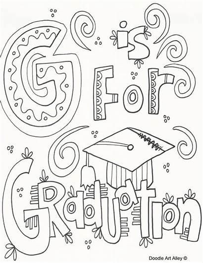 Graduation Coloring Kindergarten Congratulations Doodle Preschool Pre