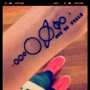 Solar system tattoo / Planets tattoo- pink Mercury ...