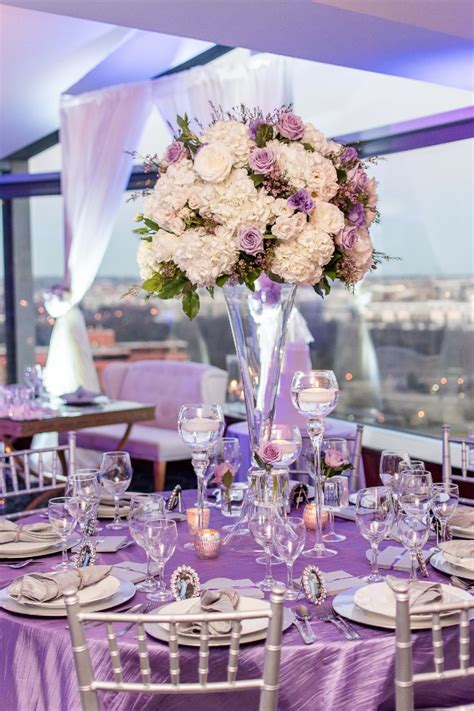 lavender table l a heartfelt purple and silver wedding that might
