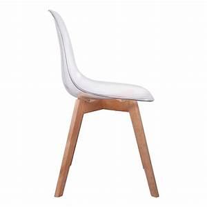 But Chaise Transparente : lot de 2 chaises design scandinaves pas cher pieds bois ~ Teatrodelosmanantiales.com Idées de Décoration