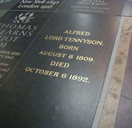 alfred tennyson westminster abbey london poet grave