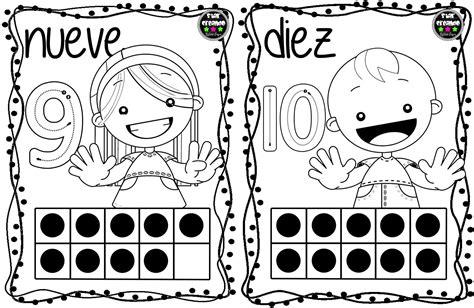 Tarjetas números para colorear (1) Imagenes Educativas