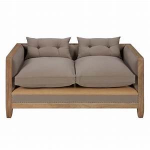 Sofa Mit Tiefer Sitzfläche : sofa 2 sitzig aus baumwolle grau merim e maisons du monde ~ Sanjose-hotels-ca.com Haus und Dekorationen