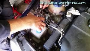 How To Replace Diesel Fuel Filter Vw Golf Mk4  Jetta  Bora