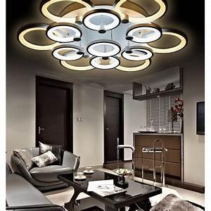 Eclairage Moderne : lustre de salon luminaire d 39 int rieur led pour plafond 13 modules ~ Farleysfitness.com Idées de Décoration
