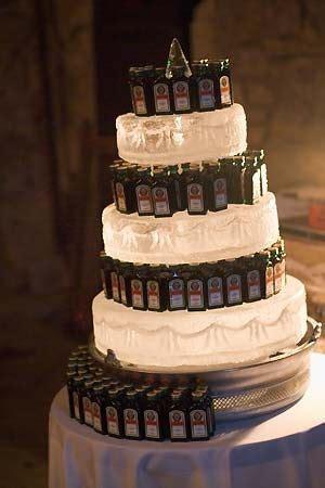 unique wedding cake alternatives  pink bride