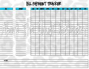 Printable Bill Payment Tracker