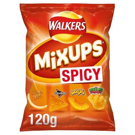 walkers mix ups mixups spicy snacks tesco morrisons 120g groceries zoom ocado previous