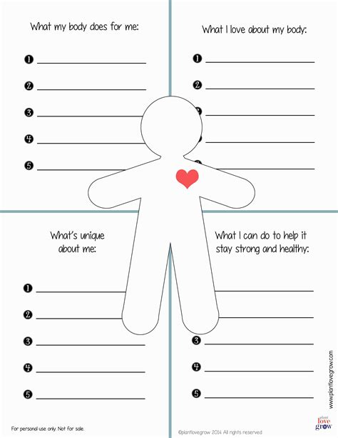 30 Self Esteem Worksheets To Print Kittybabylovecom