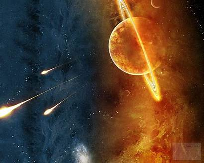 Planet Saturn Space Wallpapers Saturno Planeta Explosion