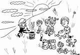 Campfire Feu Coloriages Enfants Sstra Feux Hérisson sketch template