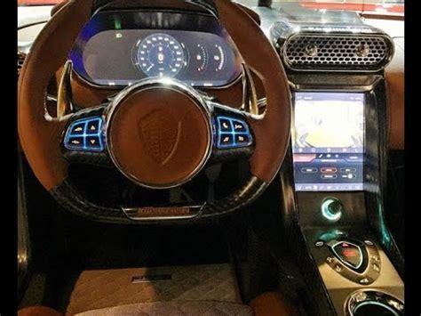 koenigsegg regera interior  monterey car week show youtube