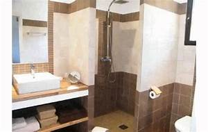 awesome exemple salle de bain 8m2 images seiunkelus With exemple de salle de bain carrelee