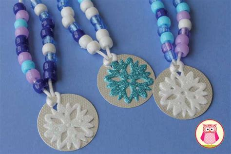 snowflake counting necklaces fine motor  counting fun