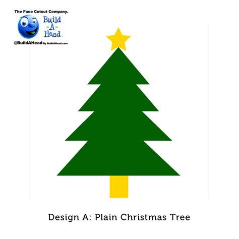 christmas tree cutout build a head