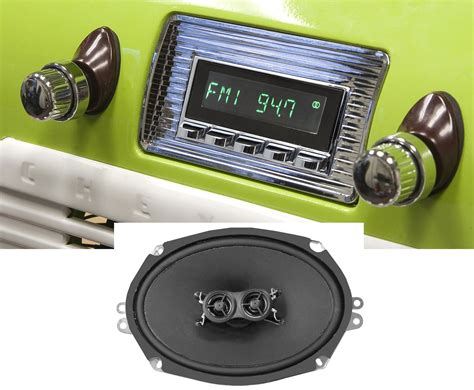 retrosound hermosa radio w 6x9 dvc dash speaker 1947 1953 chevy truck ebay