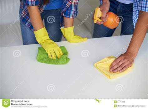 Cleaning table stock photo. Image of maintenance, female