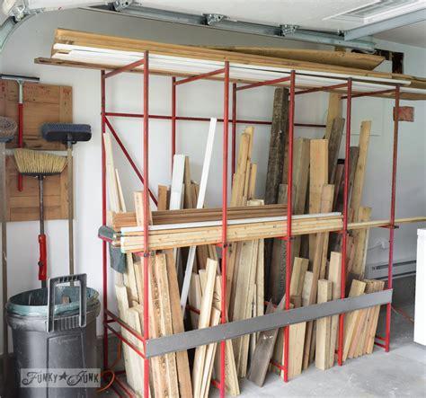 metal rack storing pallet wood  funkyjunkinteriorsnet