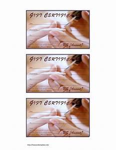 manicure pedicure gift certificate template With pedicure gift certificate template