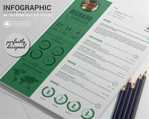 gridride professional resume template and cover letter word and indesign infographic resume