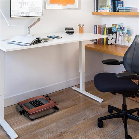 under desk rocking footrest foot rest under desk staples flip standing desk footrest