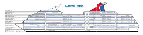 Carnival Deck Plan Photos by Deck Plan Card Front Deck Plan Card Back