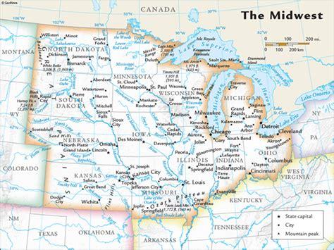 Us Midwest Regional Wall Map By Geonova