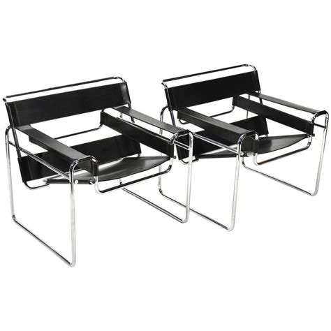 marcel breuer pair of early wassily chairs by knoll for