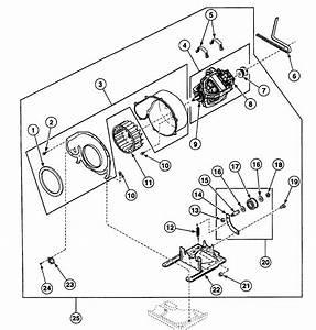 Motor Assy Diagram  U0026 Parts List For Model Sse107wf Speed