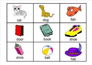 free kindergarten word flash cards breeds picture