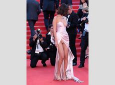 Bella Hadid Upskirt at Opening Ceremony of 70th Cannes