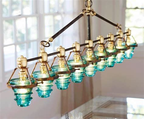 artistic pendant lights upcycling ideas with glass insulators home and garden