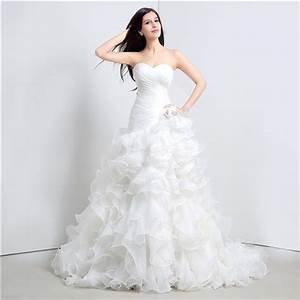 romantic trumpet strapless corset organza ruffle wedding With organza ruffle wedding dress