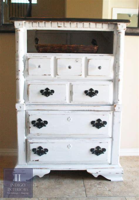 black shabby chic dresser distressed black and white tall dresser chest shabby chic white