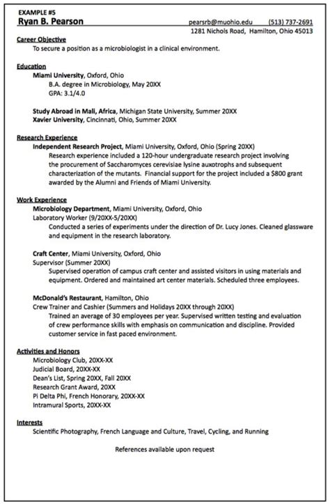 clinical microbiologist resume sample http