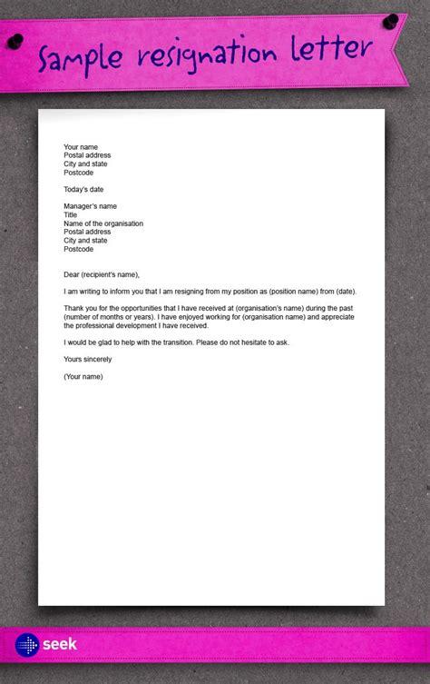 write  resignation letter     date career  job seeking advice visit