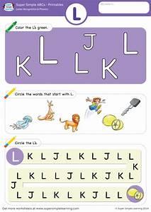 letter recognition phonics worksheet l uppercase