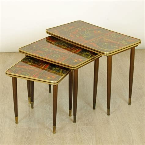 vintage table ls 1950s set of 3 vintage nesting tables 1950s 54150