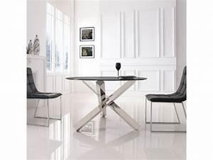 Table Ronde En Verre Conforama : table manger ronde en verre transparent elia vente de table conforama ~ Nature-et-papiers.com Idées de Décoration