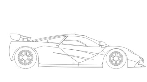 mclaren f1 drawing m sketch a of a mclaren f1 coloring pages