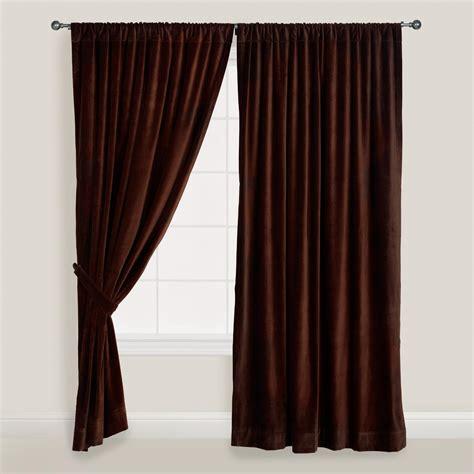 chocolate brown velvet curtain world market