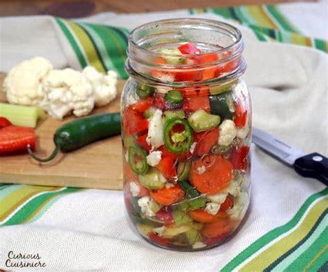 Giardiniera (italian Pickled Vegetables) • Curious Cuisiniere