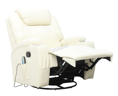 Foxhunter Bonded Leather Massage Recliner Chair Cinema