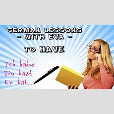 German Lesson 5  Verb To Have Youtube