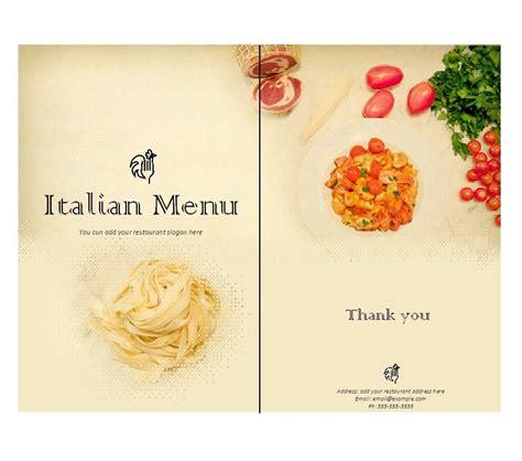 restaurant menu templates designs
